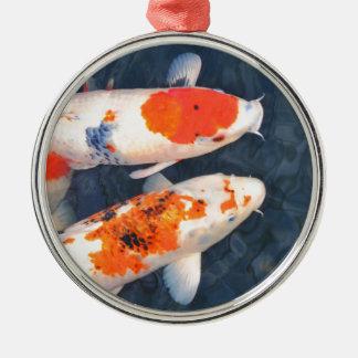 Koi fish metal ornament