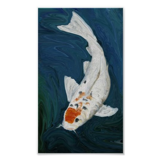 Koi fish oil reproduction art print for Koi reproduction