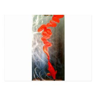 Koi fish on metal Breaking Free Postcard
