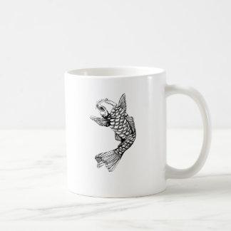 Koi Fish Outline Coffee Mug
