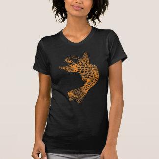 Koi Fish Outline Tee Shirts