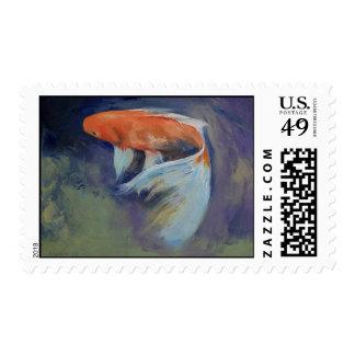 Koi Fish Painting Stamp