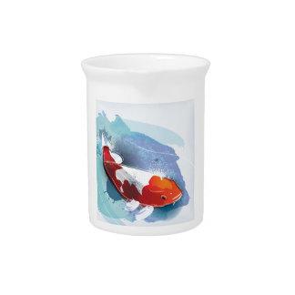 Koi fish pitcher