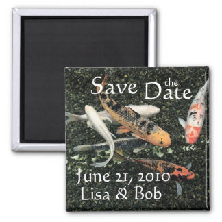 Koi Fish Pond Animals Save the Date Magnet