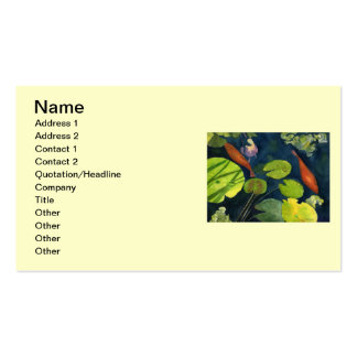 Fish pond business cards templates zazzle for Fish pond business