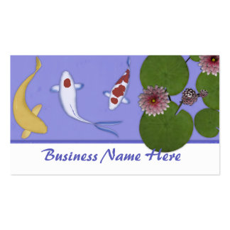 Koi pond business cards templates zazzle for Fish pond business