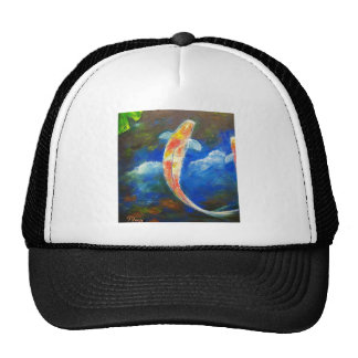 Koi Fish Pond Cloud Reflections Trucker Hats