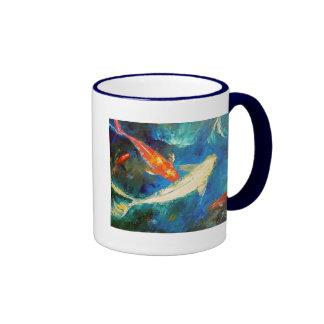 Koi Fish Pond Coffee Mug