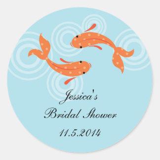Koi Fish Pond Favor Sticker