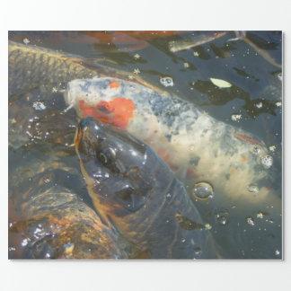 Koi Fish Pond Lake Wrapping Paper Gift