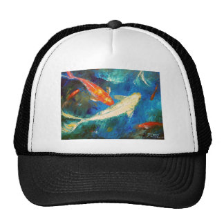 Koi Fish Pond Mesh Hat