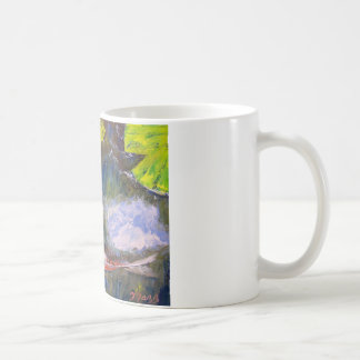 Koi Fish Pond Classic White Coffee Mug
