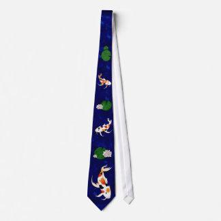 Koi Fish Pond Neck Tie
