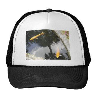 Koi fish pond trucker hat