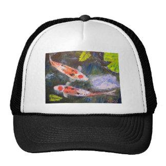 Koi Fish Pond Trucker Hats