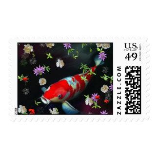 Koi Fish Stamp