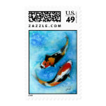 Koi Fish Postage Stamp