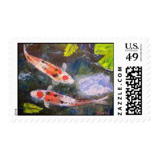 Koi Fish Postage Stamps