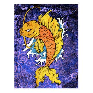 Koi Fish Postcard