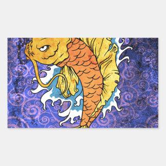 Koi Fish Rectangular Sticker