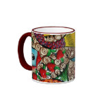 Koi Fish Ringer Coffee Mug
