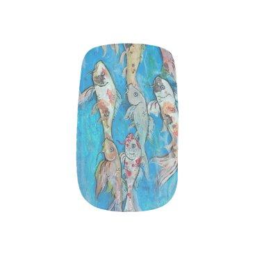 pegacorna Koi Fish Swimming Nails Minx Nail Wraps