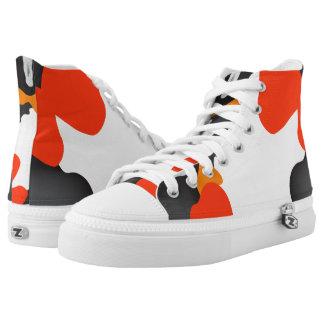 Koi Fish Theme Style High-Top Sneakers
