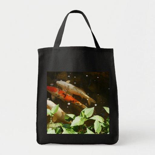 Koi fish tote canvas bag zazzle for Koi fish purse