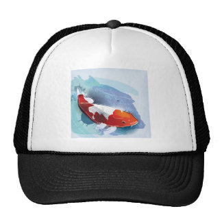 Koi fish trucker hat