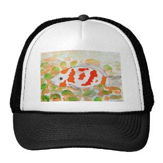 Koi fish watercolor art trucker hat