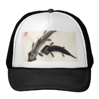 Koi Fish Watercolor Trucker Hat