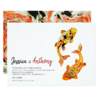 Koi Fish Wedding Invitation