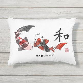 Koi Fish with Harmony Character Pillow