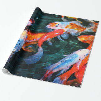 Koi wrapping paper zazzle for Fish wrapping paper