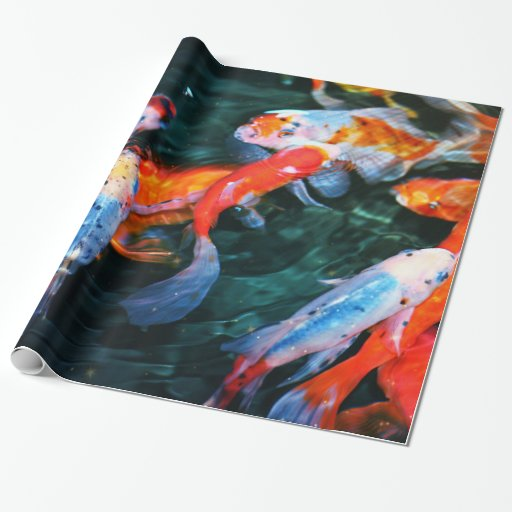 Koi fish wrapping paper zazzle for Fish wrapping paper