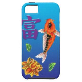 Koi Fish & Yellow Lotus iPhone 5 Case