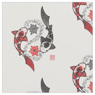 Koi Fish Yin Yang Motif Cloth