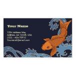 Koi (fondo azul marino) plantillas de tarjetas de visita