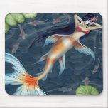 "Koi Geisha Mermaid Mousepad<br><div class=""desc"">by the artist: Agnes Olson</div>"