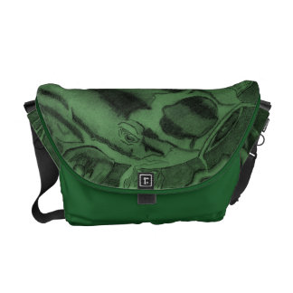 Koi (Green) Courier Bag