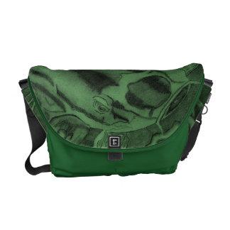 Koi (Green) Courier Bag
