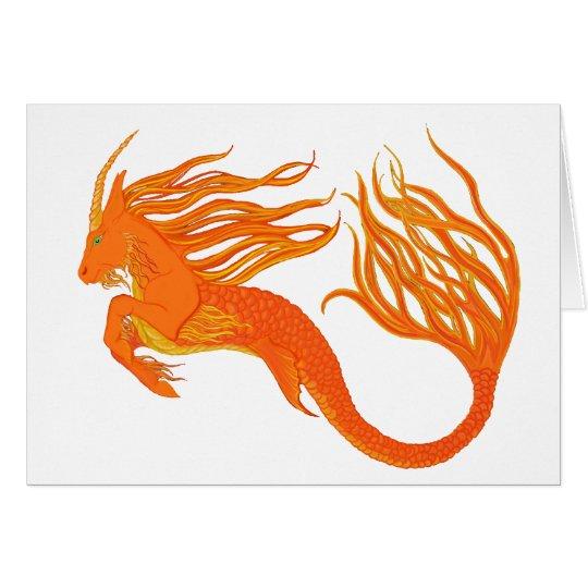 Koi Horse Orange Fire Card