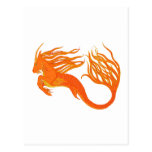 Koi Horse Orange Fire Post Cards