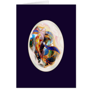 Koi in A Drop Dreaming New Baby Greeting Card