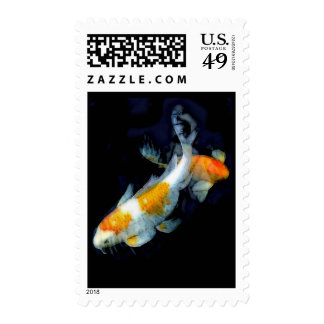 Koi in Motion Postage Stamp