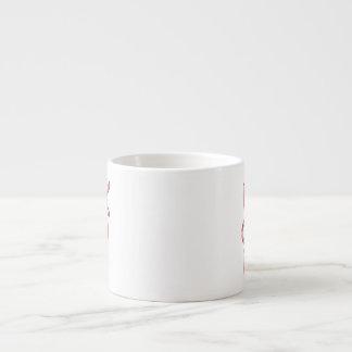 """""""KOI"""" in Red and White Koi Fish Text Art 6 Oz Ceramic Espresso Cup"""