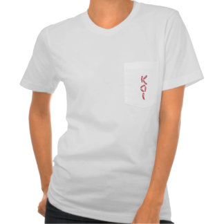 """KOI"" in Red and White Koi Fish Text Art T-Shirt"