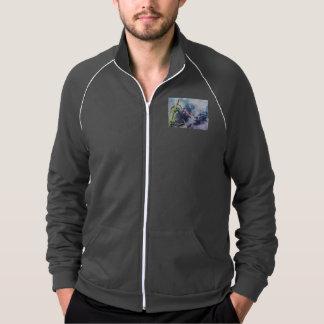 Koi in Swirling Water American Apparel Fleece Track Jacket