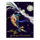 Koi in Universe Fantasy Design Thank You Postcard