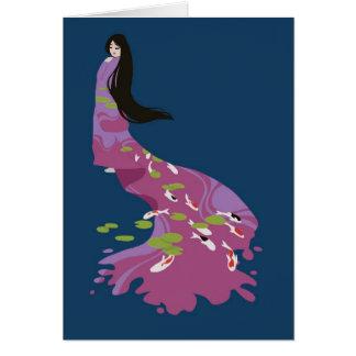 Koi Kimono Card